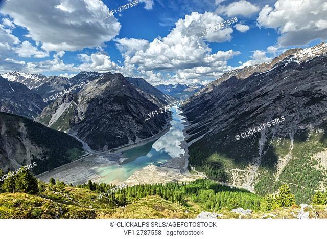 Gallo lake in Livigno, province of Sondrio, Lombardy, Italy