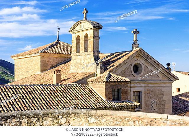 Cuenca old town detail of the Convento de las Carmelitas Descalzas, Cuenca, Castilla-La Mancha, Spain