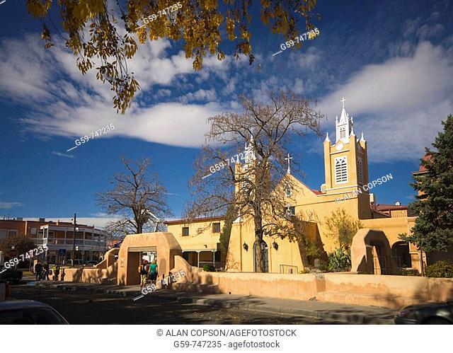 USA  New Mexico  Albuquerque  Old Town  San Felipe de Neri Church