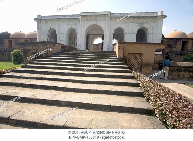 Steps of Katra masjid built in 1723 A D by Nawab Murshid Quli Khan founder of Murshidabad ; West Bengal ; India Heritage Site