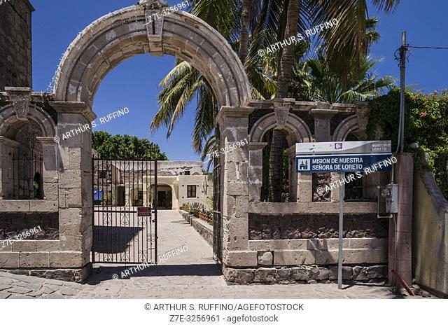 Entrance arch to the courtyard of the Mission of Nuestra Señora de Loreto Conchó (Mission of Our Lady of Loreto). UNESCO World Heritage Site