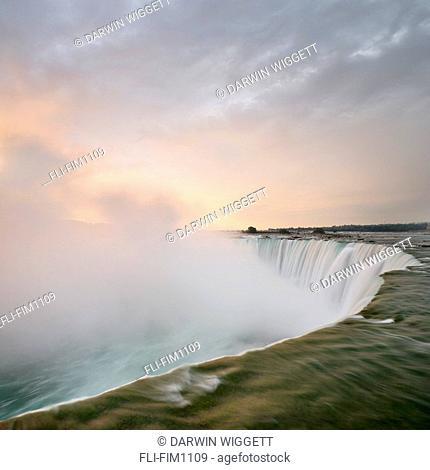 Horseshoe Falls at Sunrise, Niagara Falls, Ontario, Canada