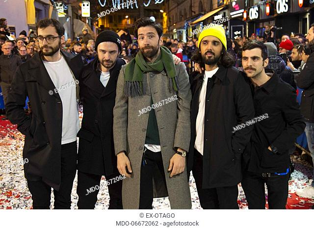Ex-Otago on the Red Carpet of the 69th Sanremo Music Festival. Sanremo (Italy), Fabruary 4th, 2019
