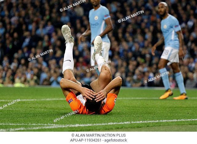 2017 UEFA Champions Leauge Man City v Shakhtar Donetsk Sep 26th. 26th September 2017, Etihad Stadium, Manchester, England; UEFA Champions League football