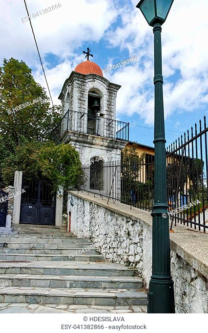 XANTHI, GREECE - SEPTEMBER 23, 2017: Stone orthodox church town of Xanthi, East Macedonia and Thrace, Greece