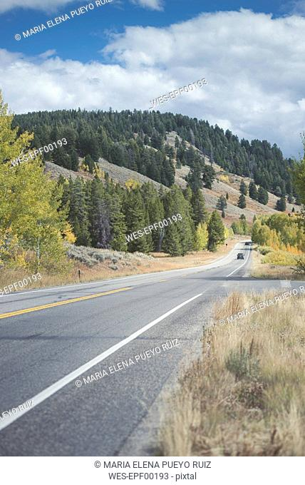 USA, Wyoming, Grand Teton National Park, Oxbow Bend Turnout Road
