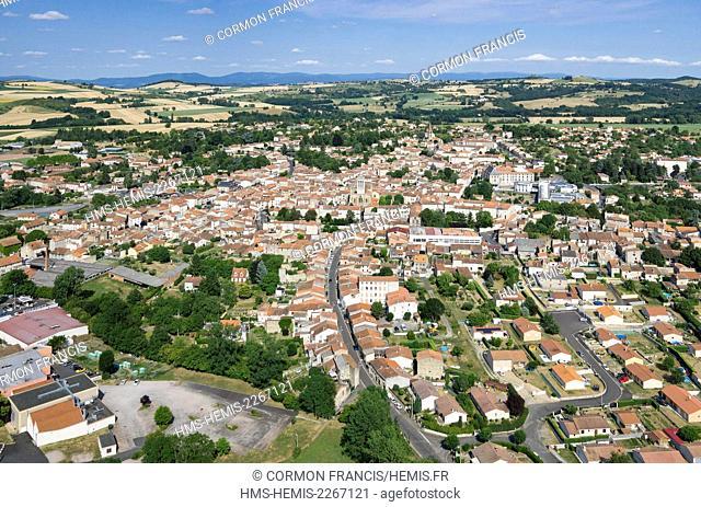 France, Puy de Dome, Billom (aerial view)