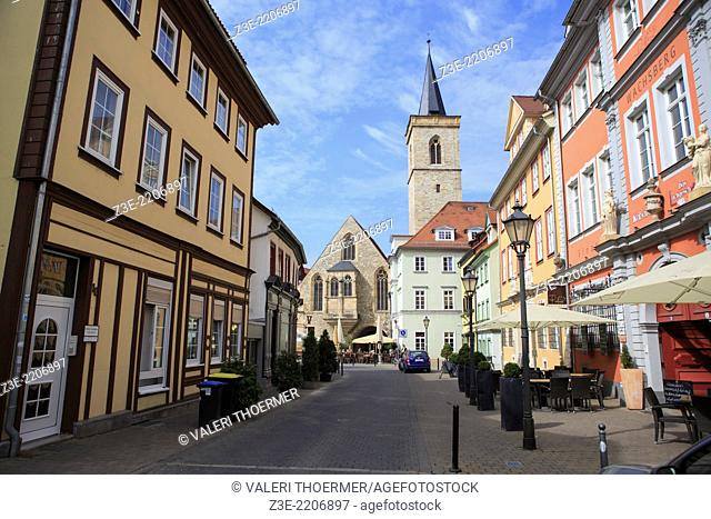 Streets and buildings of Erfurt, Thuringia, Germany