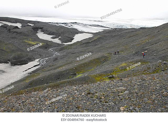 One of the outlet glaciers glacier tongues of the Mýrdalsjökull ice cap
