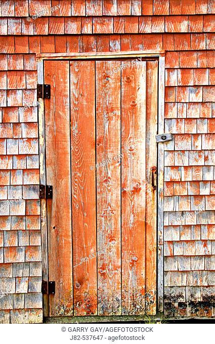 Wooden door, Peggy's Cove, Nova Scotia, Canada