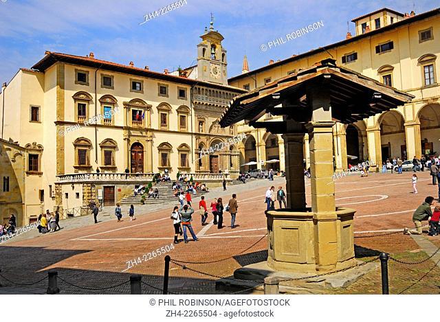 Arezzo, Tuscany, Italy. Piazza Grande (Main Square)