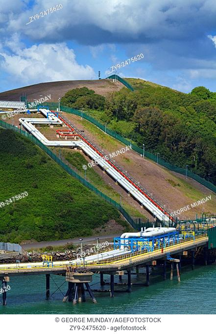 Refinary Pipeline in Milford Haven, Pembrokeshire, South Wales, UK