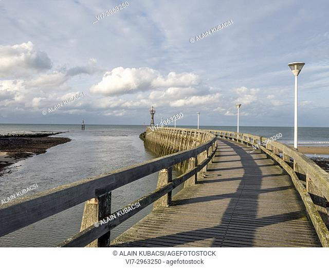 Port-en-Bessin's maritime footbridge, Calvados, France
