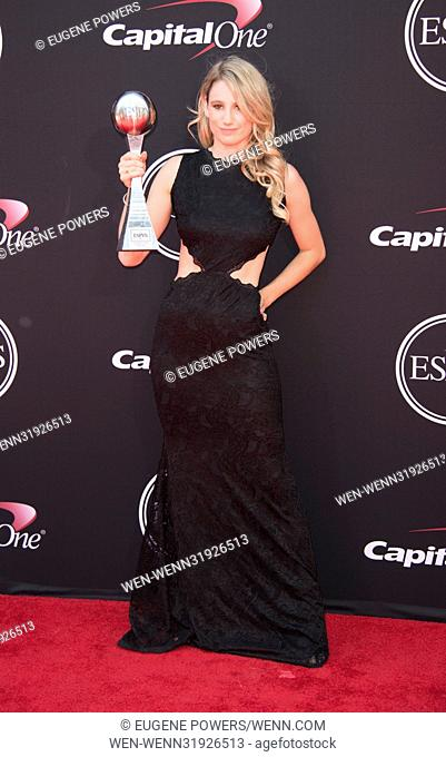 The 2017 ESPY Awards at Microsoft Theater - Arrivals Featuring: Anna Gasser Where: Los Angeles, California, United States When: 12 Jul 2017 Credit: Eugene...