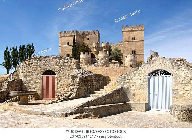 Castle of Ampudia, Palenica province, Spain
