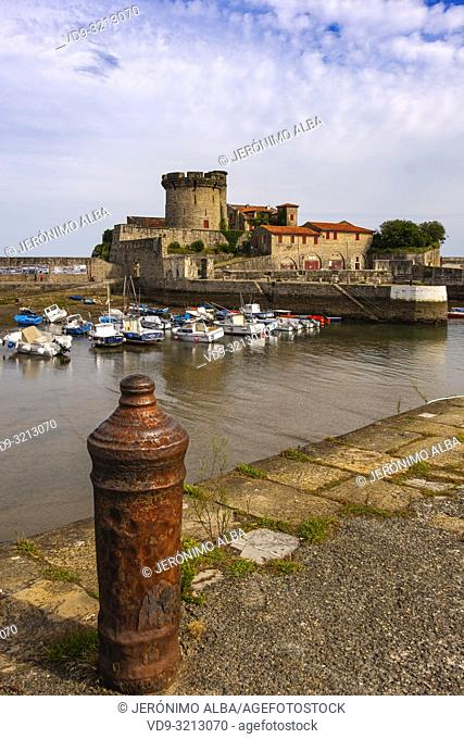 Marina and Socoa fort. Basque Country. Urrugne, Pyrénées-Atlantiques department, Aquitaine region. South Western France