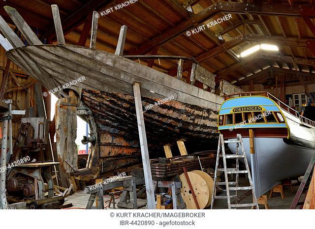 Museumswerft, Shipyard Museum, Historic Waterfront, Flensburg, Schleswig-Holstein, Germany