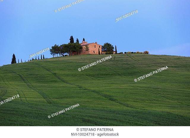 Chapel Madonna di Vitaleta, San Quirico d'Orcia, Tuscany, Italy