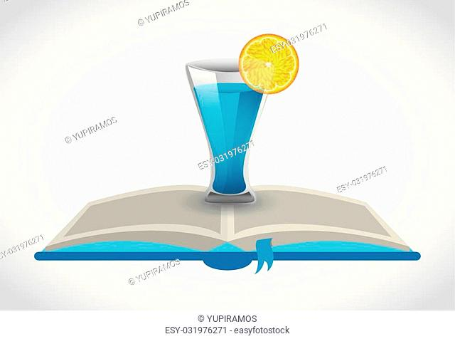 cocktail recipe book design, vector illustration eps10 graphic
