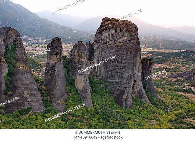 Metéora, world cultural heritage, Kalambaka, Kastraki, rock, rocks, Thessaly, Greece, Greek, mountain, mountains