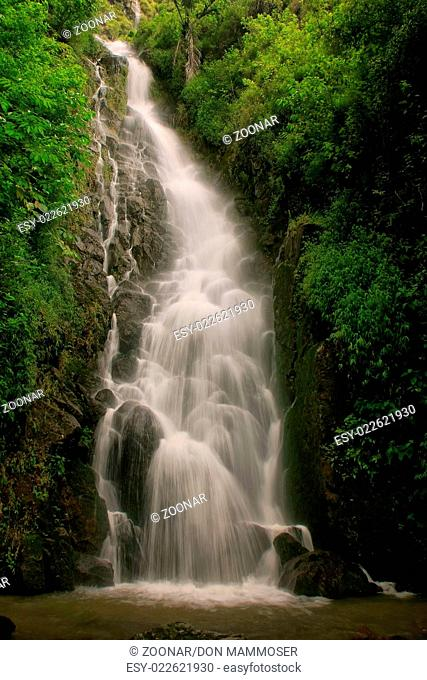 Simangande falls on Samosir island, Sumatra, Indon