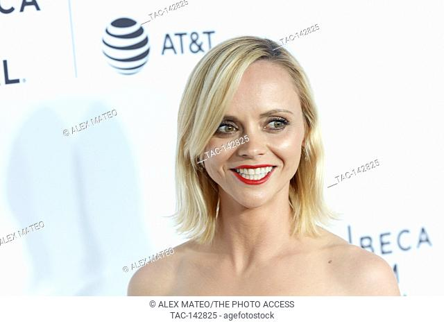 Christina Ricci arrives at the 2017 Tribeca Film Festival Opening Night, Clive Davis: The Soundtrack Of Our Lives
