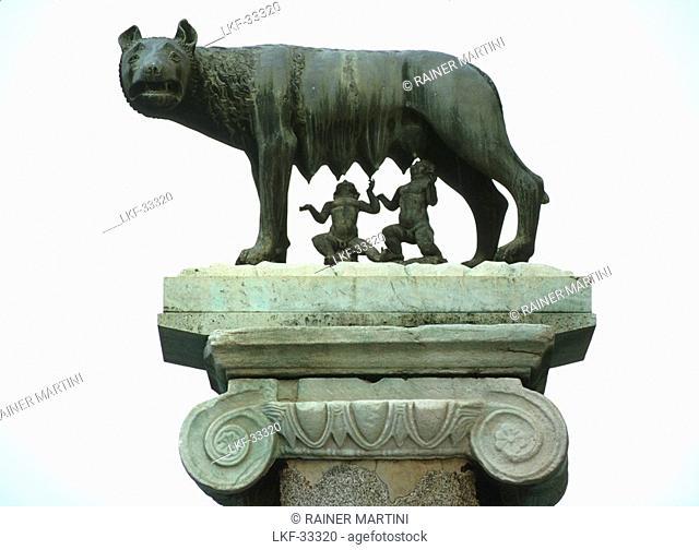 Statue of Romulus and Remus, Rome, Latio, Italy, Europe