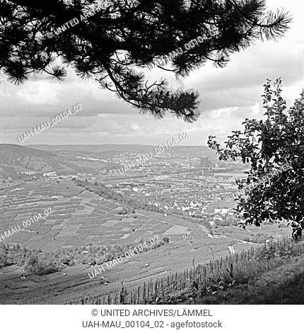 Blick auf Rotenberg, einen Stadtteil von Stuttgart, Deutschland 1930er Jahre. View to the Stuttgart suburb of Rotenberg, Germany 1930s