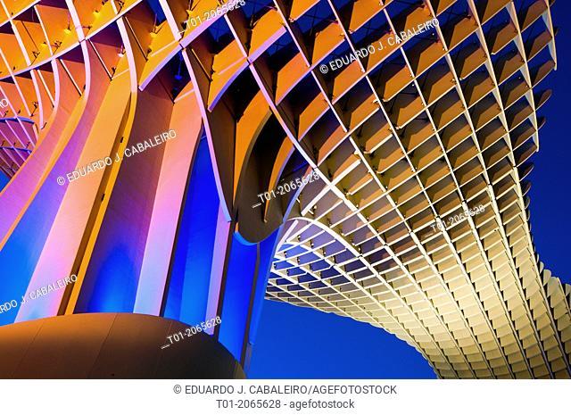 Setas. Metropol Parasol of Encarnacion. Seville. Andalucia. Spain