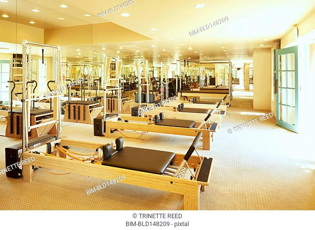 Pilates room in health club