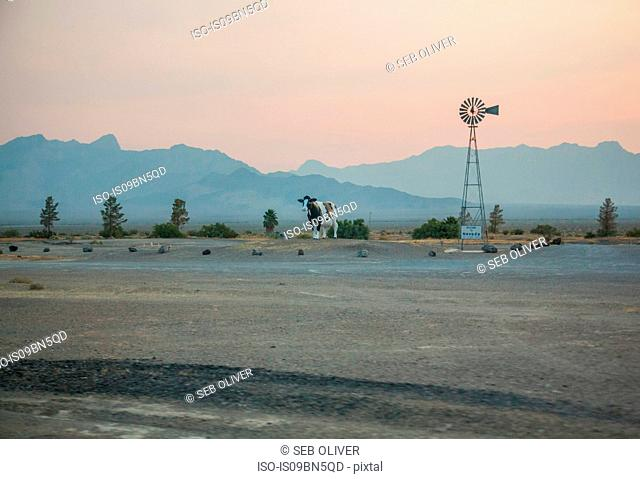 Welcome to Nevada sign by roadside, Nevada, USA