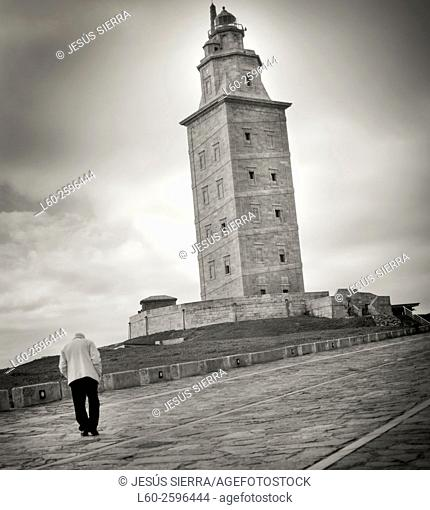 Torre de Hercules, Tower of Hercules, A Coruna, Spain, Europe