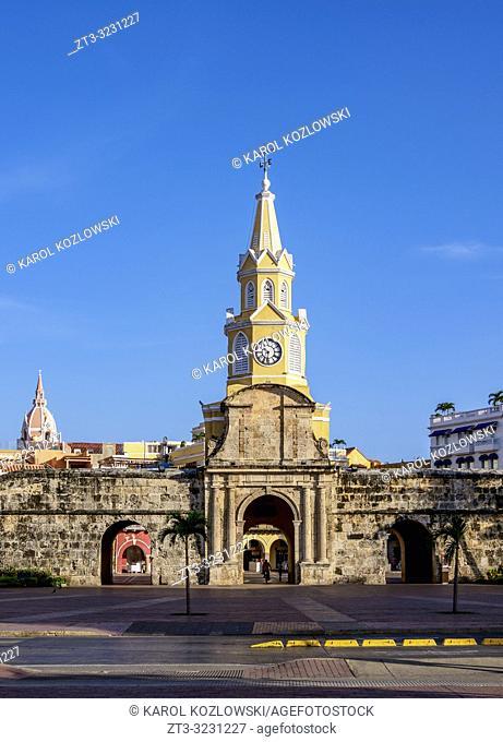 Clock Tower, Cartagena, Bolivar Department, Colombia