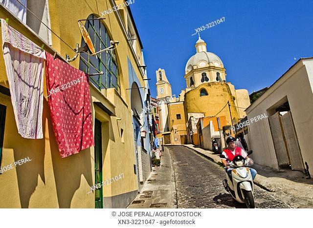 Chiesa della Madonna delle Grazie, Church, Procida, Phlegraean Islands, Gulf of Naples, Bay of Naples, Italy, Europe
