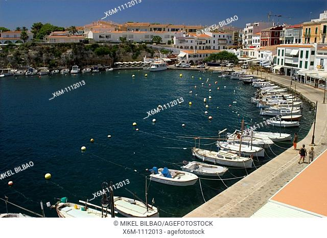 Harbour  Es Castell  Minorca, Balearic Islands, Spain, Europe