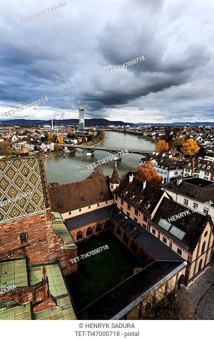 City roofs and Rhine River