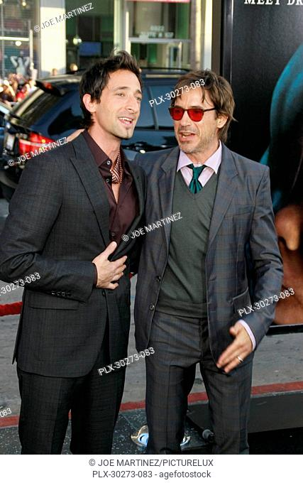 Adrien Brody and Robert Downey Jr. at the Premiere of Warner Bros. Pictures' Splice. Arrivals held at Grauman's Chinese Theatre in Hollywood, CA, June 2, 2010