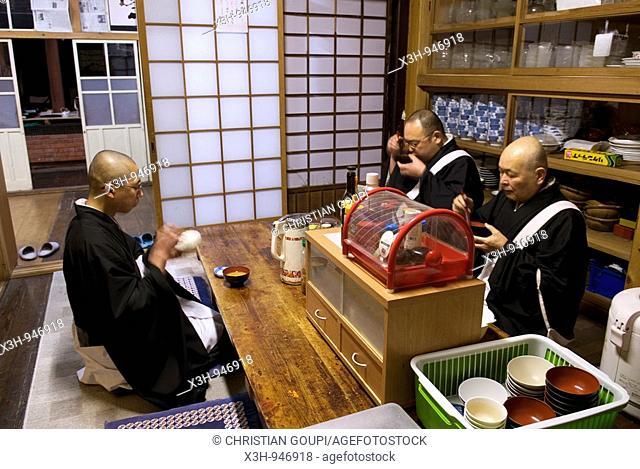 monk's lunch at Temple Henjôkô  Japon, province de Wakayama, Mont Kôyasan, ensemble de temples et monastères  Fondé par Kukai