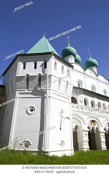Gate Church, Boris and Gleb Monastery, Borisoglebsky, Golden Ring, Yaroslavl Oblast, Russia