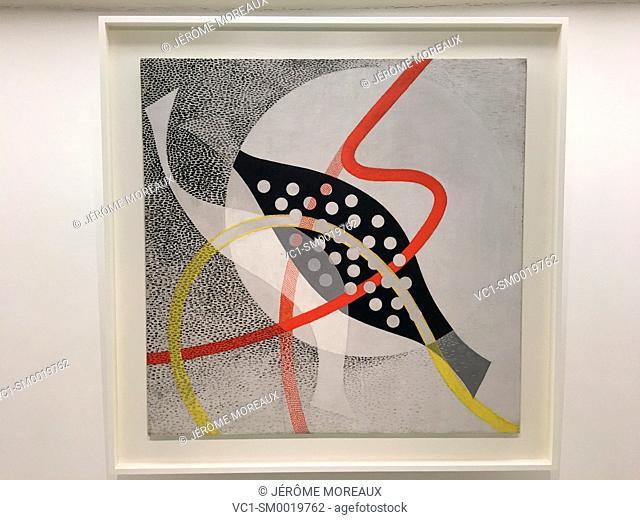CH BEATA I, 1939, Oil and graphite on burlap, Solomon R. Guggenheim, Guggenheim Museum, New York City