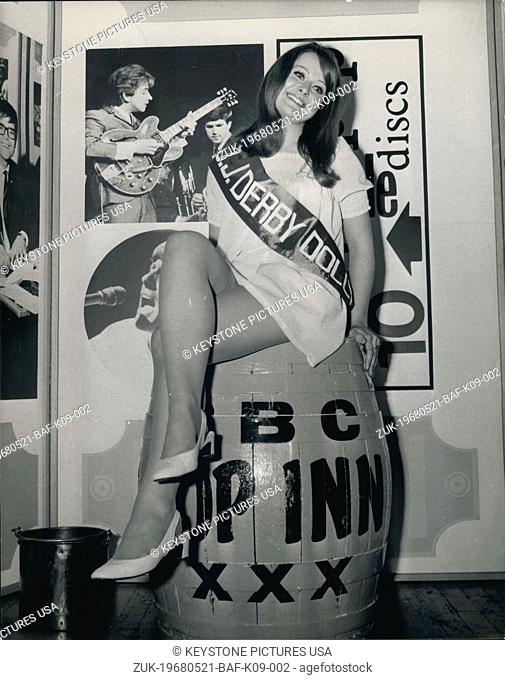 May 21, 1968 - Radio I Disc Jockey Derby Dolly: Ten pretty girls were at 'Pop Inn', the Tuesday 'live' lunchtime show at BBC's The Paris Studio