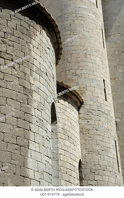 Church of Sant Feliu. Girona. Spain