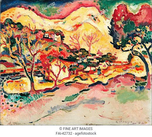 Landscape at La Ciotat (Paysage à La Ciotat) by Braque, Georges (1882-1963)/Oil on canvas/Cubism/1907/France/Kunststiftung Merzbacher