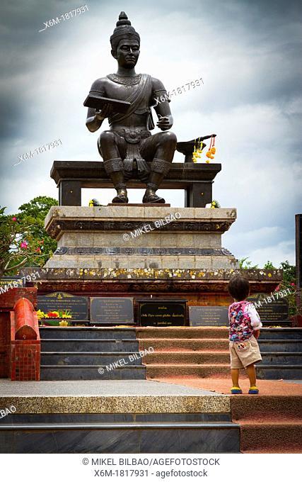 Statue of King Ramkhamhaeng  Sukhothai Historical Park  Thailand