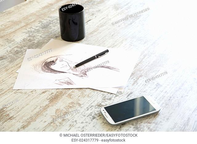 Drawing a sketch on the Table