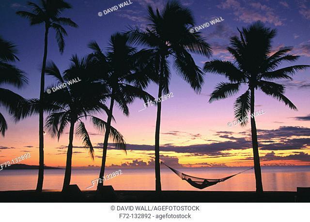 Beach beside the Sheraton Hotel. Denerau Island. Fiji islands