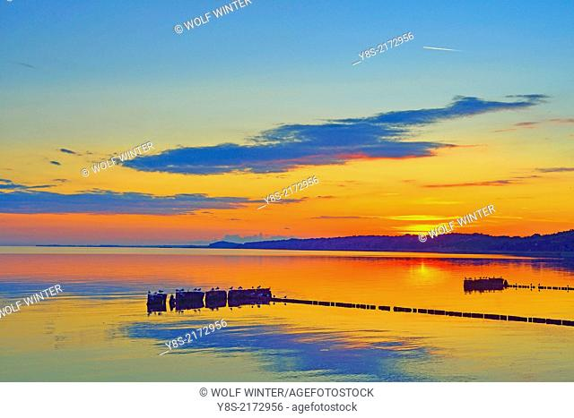 Sunset at Kamminke, Usedom, Germany
