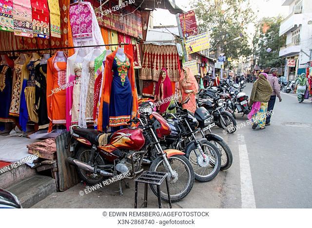 Johri Bazaar; Store front in marketplace in Jaipur, India