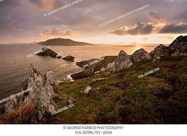 Dunmore Head and Blasket Islands, Dingle, Kerry, Ireland