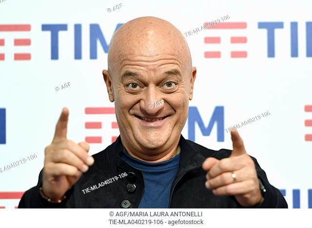 Claudio Bisio attends the press conference to present the 69th Sanremo Italian Song Festival, Sanremo, Italy, 04 February 2019